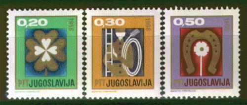 Poštovní známky Jugoslávie 1967 Nový rok Mi# 1254-56