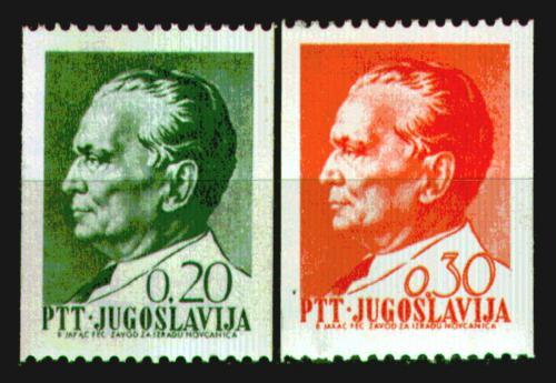 Poštovní známky Jugoslávie 1968 Prezident Tito Mi# 1266-67