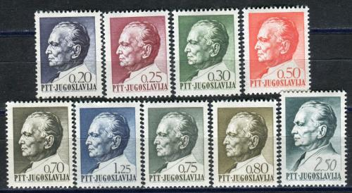 Poštovní známky Jugoslávie 1968 Prezident Tito Mi# 1280-88 Kat 8€