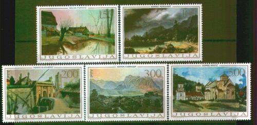 Poštovní známky Jugoslávie 1968 Umìní Mi# 1298-1302