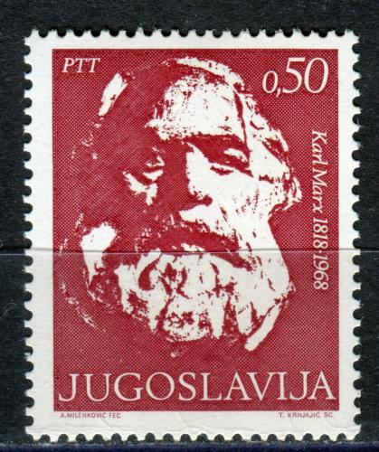 Poštovní známka Jugoslávie 1968 Karl Marx Mi# 1305