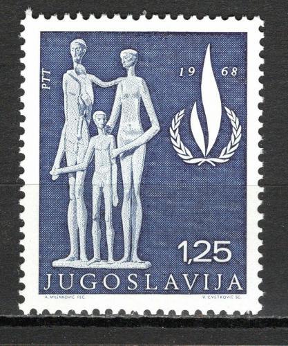 Poštovní známka Jugoslávie 1968 Mezinárodní rok lidských práv Mi# 1316