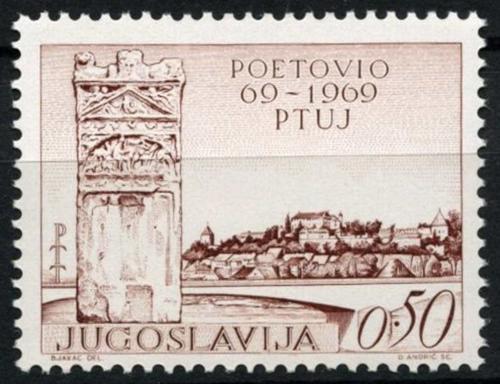 Poštovní známka Jugoslávie 1969 Ptuj, 1900. výroèí Mi# 1328