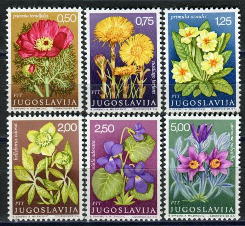Poštovní známky Jugoslávie 1969 Léèivé rostliny Mi# 1330-35