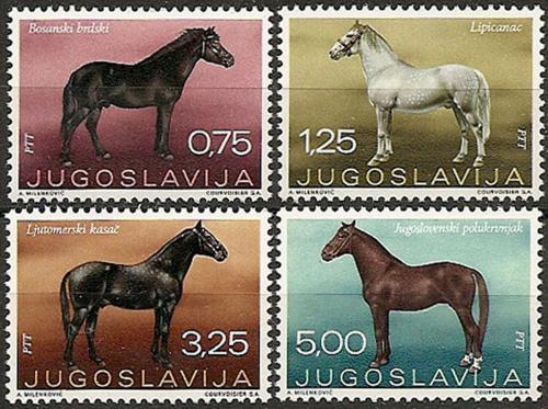 Poštovní známky Jugoslávie 1969 Konì Mi# 1344-47