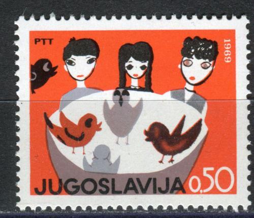 Poštovní známka Jugoslávie 1969 Dìtská kresba Mi# 1348