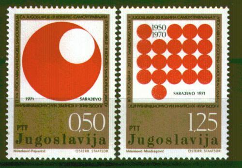 Poštovní známky Jugoslávie 1971 Kongres samosprávy Mi# 1418-19