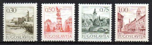 Poštovní známky Jugoslávie 1971 Mìsta Mi# 1427-30