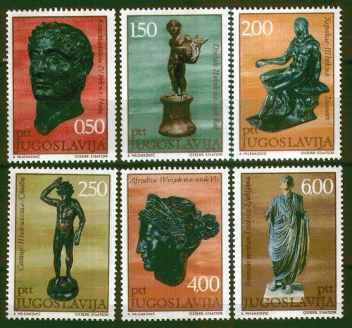Poštovní známky Jugoslávie 1971 Antické bronzové sochy Mi# 1431-36