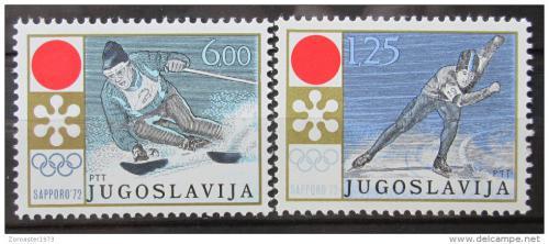 Poštovní známky Jugoslávie 1972 ZOH Sapporo Mi# 1447-48