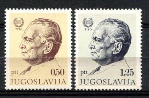 Poštovní známky Jugoslávie 1972 Prezident Tito Mi# 1466-67