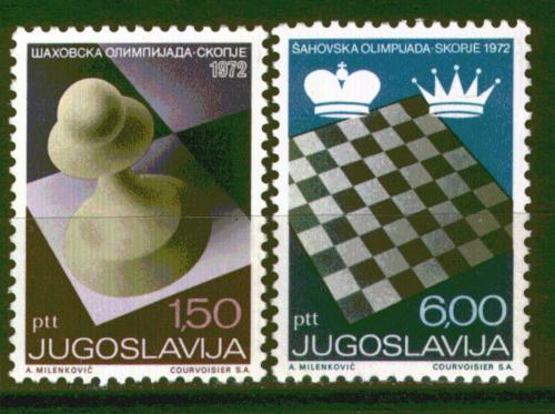 Poštovní známky Jugoslávie 1972 Šachová olympiáda Mi# 1472-73