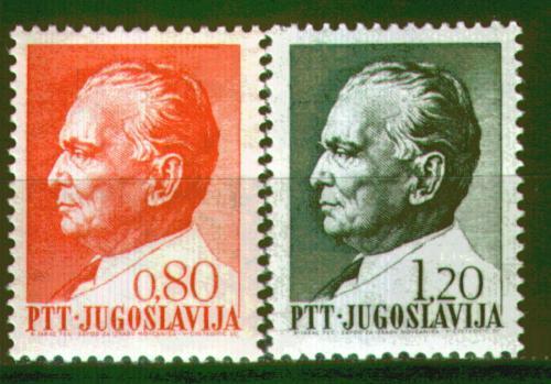Poštovní známky Jugoslávie 1972 Prezident Tito Mi# 1474-75