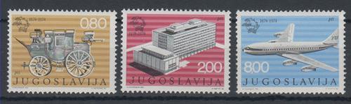 Poštovní známky Jugoslávie 1974 UPU, 100. výroèí Mi# 1546-48