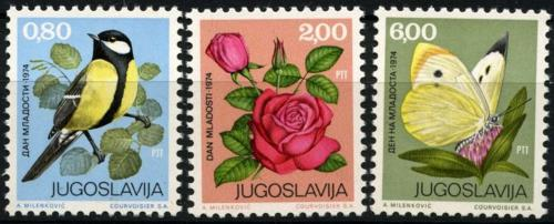 Poštovní známky Jugoslávie 1974 Fauna a flóra Mi# 1559-61