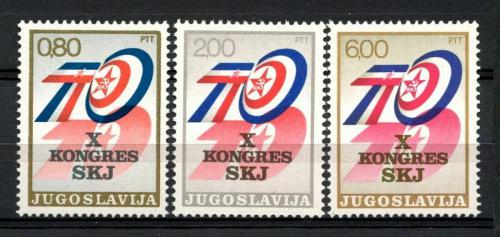 Poštovní známky Jugoslávie 1974 Komunistická strana Mi# 1562-64