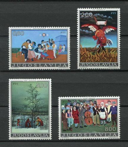 Poštovní známky Jugoslávie 1974 Naivní umìní Mi# 1569-72
