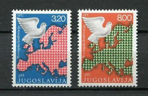 Poštovní známky Jugoslávie 1975 Mapa Evropy Mi# 1585-86