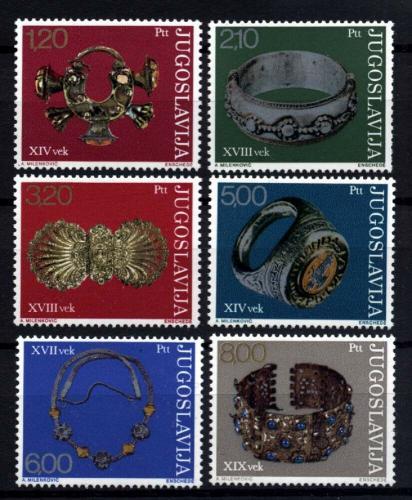 Poštovní známky Jugoslávie 1975 Klenoty Mi# 1587-92