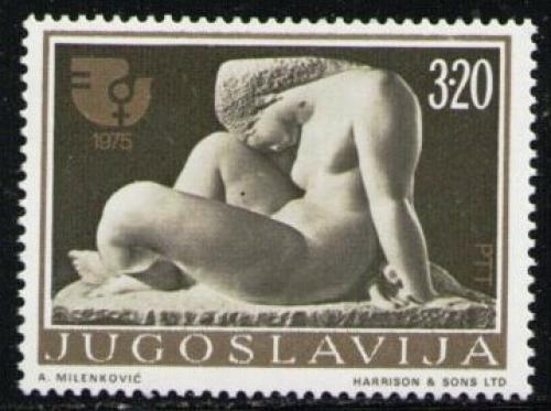 Poštovní známka Jugoslávie 1975 Socha, Frano Kršiniè Mi# 1594