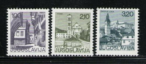 Poštovní známky Jugoslávie 1975 Turistické zajímavosti Mi# 1595-97