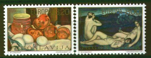 Poštovní známky Jugoslávie 1975 Evropa CEPT, umìní Mi# 1598-99