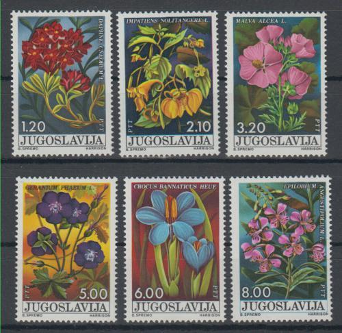 Poštovní známky Jugoslávie 1975 Lesní rostliny Mi# 1601-06