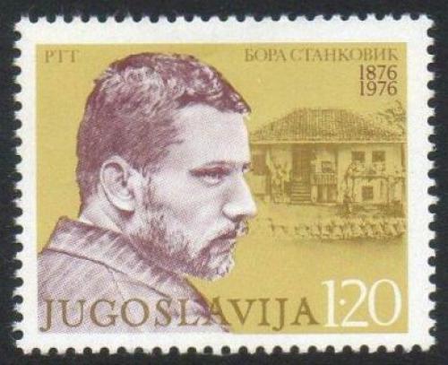 Poštovní známka Jugoslávie 1976 Borisav Stankoviè, spisovatel Mi# 1634