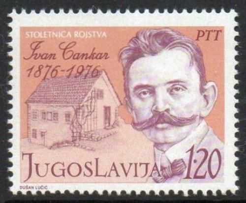 Poštovní známka Jugoslávie 1976 Ivan Cankar, spisovatel Mi# 1637