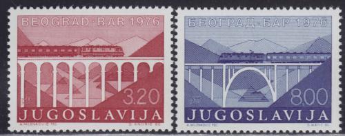 Poštovní známky Jugoslávie 1976 Železnièní most Mi# 1638-39