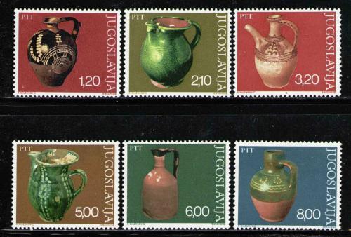 Poštovní známky Jugoslávie 1976 Staré džbány Mi# 1649-54