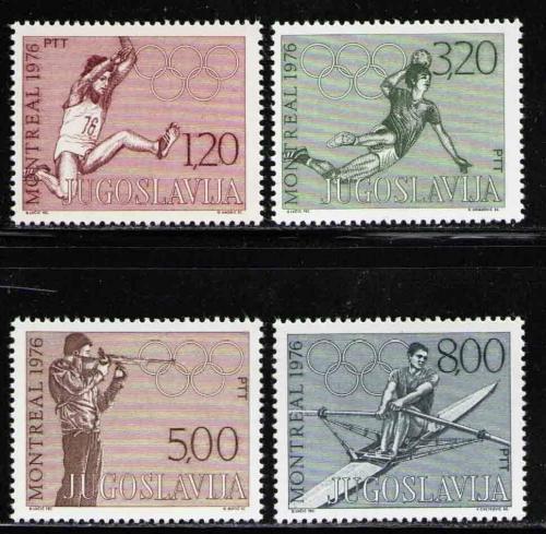 Poštovní známky Jugoslávie 1976 LOH Montreal Mi# 1656-59