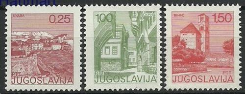 Poštovní známky Jugoslávie 1976 Turistické zajímavosti Mi# 1660-62