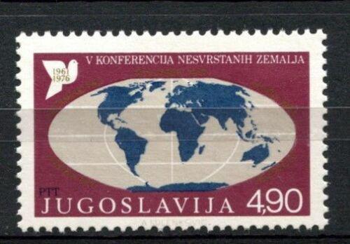Poštovní známka Jugoslávie 1976 Mapa svìta Mi# 1663