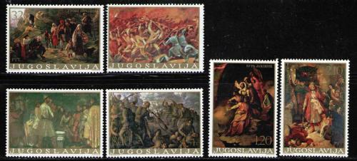 Poštovní známky Jugoslávie 1976 Umìní Mi# 1666-71