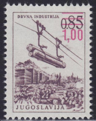 Poštovní známka Jugoslávie 1976 Pøeprava døeva pøetisk Mi# 1673