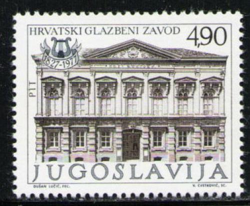 Poštovní známka Jugoslávie 1977 Chorvatský hudební institut, 150. výroèí Mi# 1682