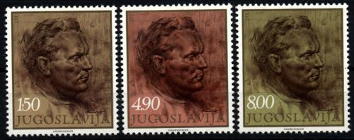 Poštovní známky Jugoslávie 1977 Prezident Tito, umìní Mi# 1686-88