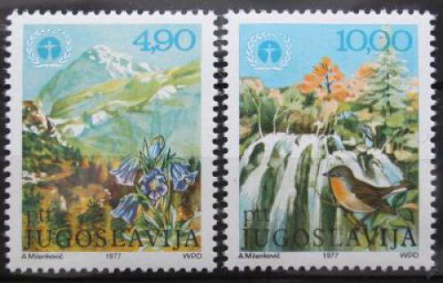 Poštovní známky Jugoslávie 1977 Ochrana životního prostøedí Mi# 1689-90