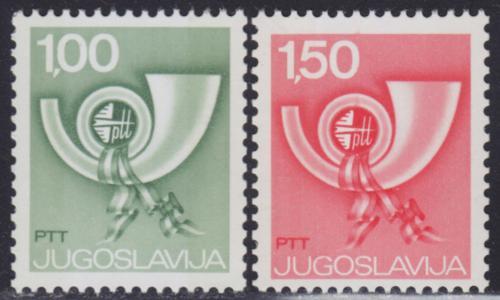 Poštovní známky Jugoslávie 1977 Poštovní roh Mi# 1695-96