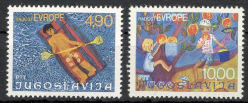 Poštovní známky Jugoslávie 1977 Dìtské kresby Mi# 1697-98