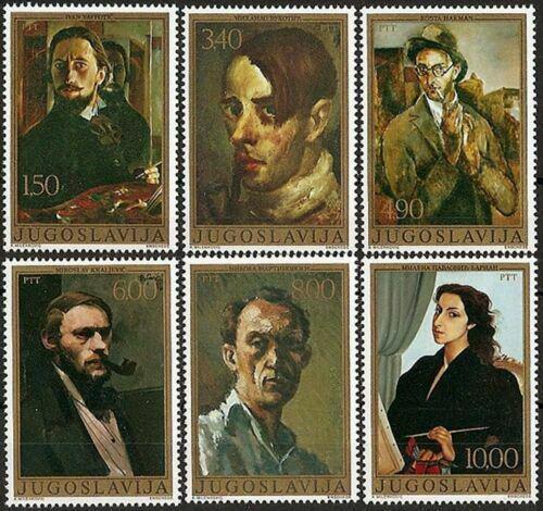 Poštovní známky Jugoslávie 1977 Umìní Mi# 1708-13