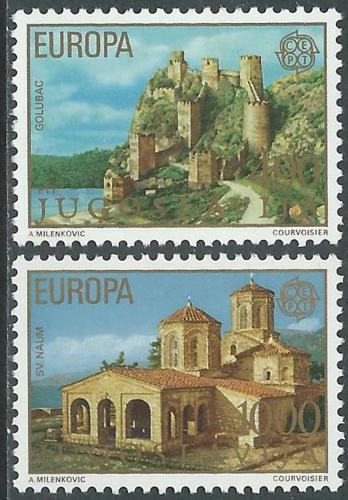 Poštovní známky Jugoslávie 1978 Evropa CEPT, architektura Mi# 1725-26