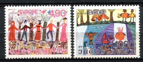 Poštovní známky Jugoslávie 1978 Dìtské kresby Mi# 1744-45