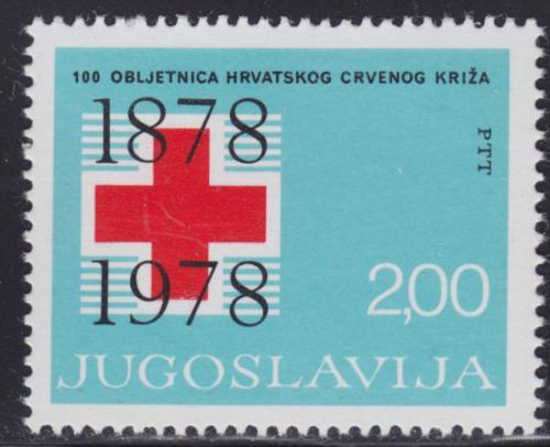 Poštovní známka Jugoslávie 1978 Chorvatský èervený køíž, 100. výroèí Mi# 1748