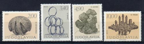 Poštovní známky Jugoslávie 1978 Sochy Mi# 1750-53