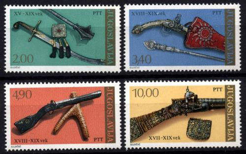 Poštovní známky Jugoslávie 1979 Staré zbranì Mi# 1780-83