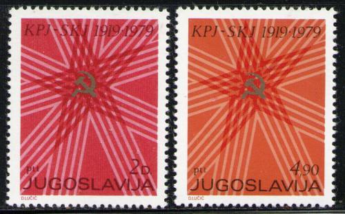 Poštovní známky Jugoslávie 1979 Komunistická strana, 60. výroèí Mi# 1784-85