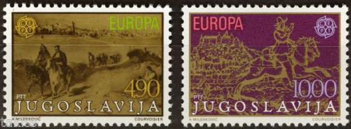 Poštovní známky Jugoslávie 1979 Evropa CEPT, historie pošty Mi# 1787-88