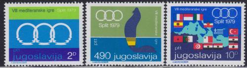 Poštovní známky Jugoslávie 1979 Sportovní hry Mi# 1796-98